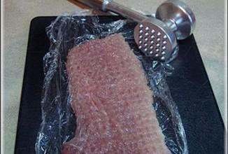 Мясо по-французски с чесноком. - приготовление