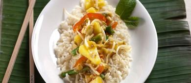 Рецепт Кисло-сладкие овощи с рисом