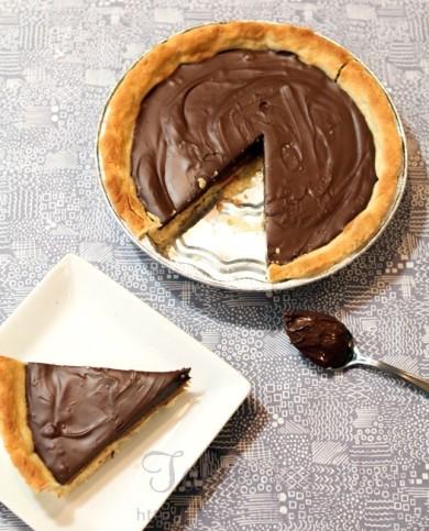Рецепт Карамельно-шоколадный пай