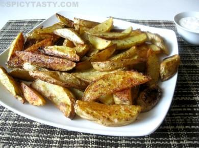 Рецепт Запеченный картофель ломтиками