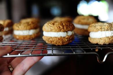 Рецепт Овсяное печенье с начинкой