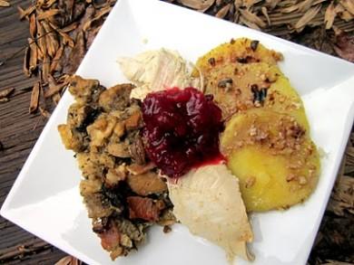 Рецепт Гарнир из хлеба на закваске и грибов