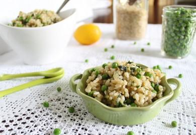 Рецепт Коричневый рис с базиликом, бобами и лимоном