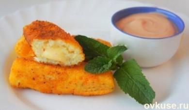 Рецепт Картофельные палочки с сыром.