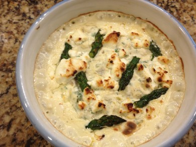 Рецепт Запеканка из свежих овощей и козьего сыра