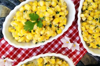Рецепт Вареная кукуруза с козьим сыром