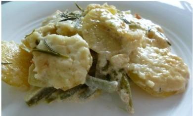Рецепт Картофель, запеченный с фасолью