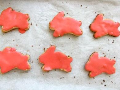 Рецепт Печенье Пасхальные зайцы с розовой глазурью