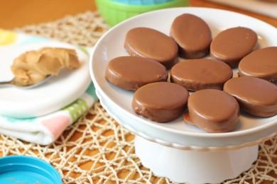 Рецепт Шоколадные яйца на арахисовом масле