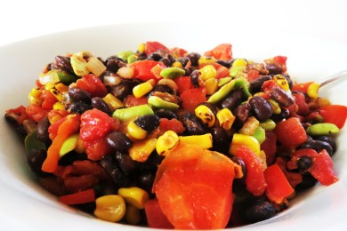 Рецепт Салат из мексиканских черных бобов