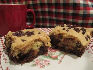 Рецепт Двухслойные пирожные с арахисовым маслом