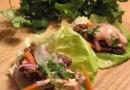 Рулетики с фаршем и маринованными овощами