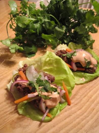 Рецепт Рулетики с фаршем и маринованными овощами