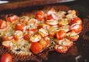 Запеченные томаты черри с сыром