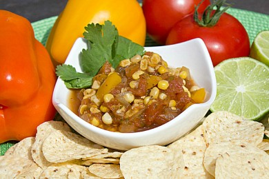 Рецепт Соус сальса с помидорами и кукурузой