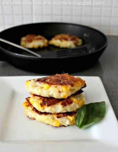 Рецепт Картофельные оладьи с сыром фета