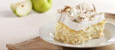 Рецепт Рисовая запеканка с яблоками и белковым кремом