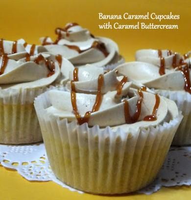Рецепт Банановые кексы с карамельным кремом