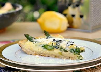 Рецепт Пирог со спаржей в сковороде