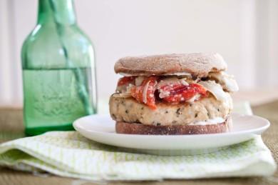 Рецепт Постный греческий бутерброд с индейкой