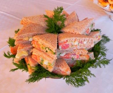 Рецепт Бутерброды с лососиной