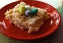 Сладкий пирог из кокосовой стружки с конфетами