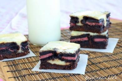 Рецепт Неаполитанский чизкейк с печеньем и шоколадом