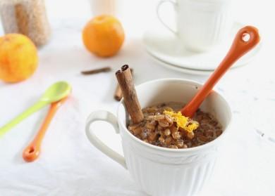 Рецепт Апельсиново-пшеничный пудинг с ромом