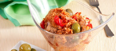 Рецепт Рисовый салат с консервированным тунцом