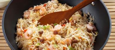 Рецепт Рис с овощами, фенхелем и креветками
