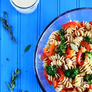 Рецепт Весенний салат с пастой и цитрусовым соусом