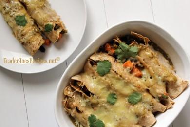 Рецепт Запеченные энчилады с  картофелем и фасолью