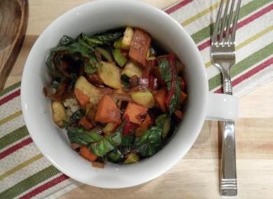 Рецепт Обжаренные овощи с киноа