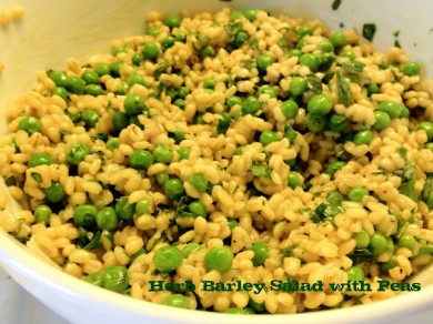 Рецепт Салат с ячменем и зеленью