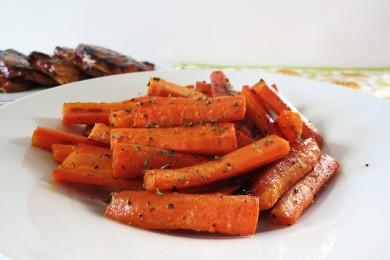 Рецепт Жареная морковь в медовой глазури