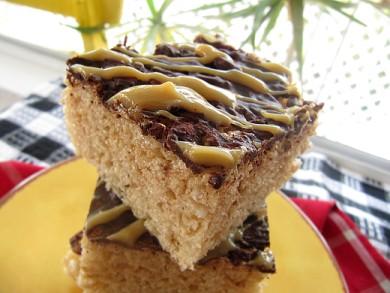 Рецепт Пирожные из воздушного риса с шоколадом