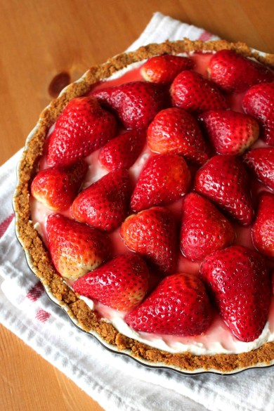 Рецепт Сливочный пирог с клубникой