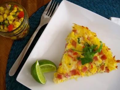 Рецепт Картофельный пирог с кукурузной сальсой
