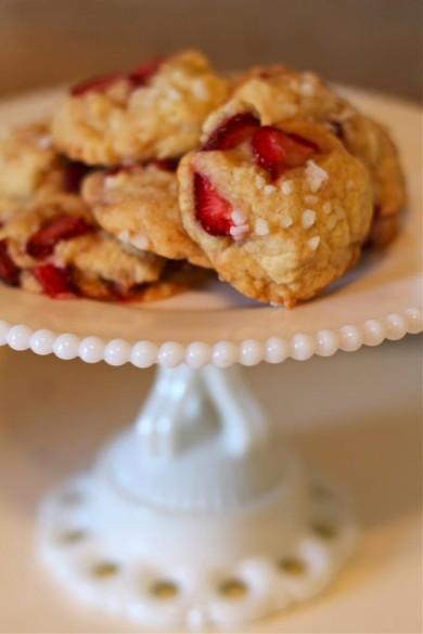 Рецепт Клубничное печенье с бальзамическим уксусом