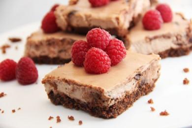Рецепт Шоколадный чизкейк с малиной