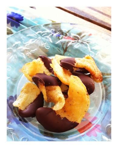 Рецепт Картофельные чипсы в шоколаде