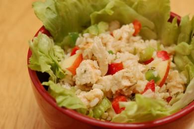 Рецепт Салат из курицы и коричневого риса