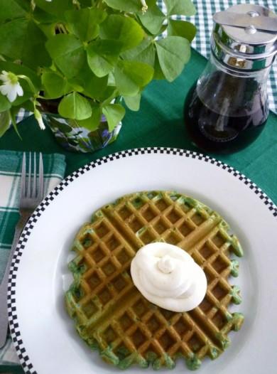 Рецепт Зеленые вафли — рецепт для вафельницы