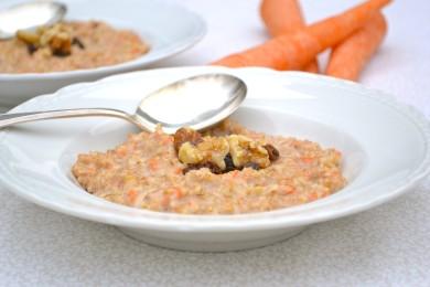 Рецепт Овсяная каша с морковью и орехами