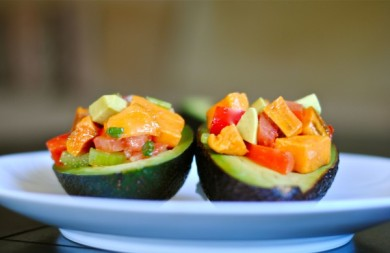 Рецепт Картофельный салат с авокадо и овощами