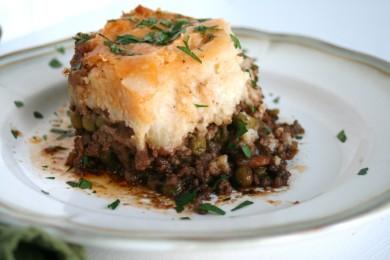Рецепт Мясной пирог с картофельным пюре