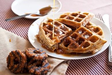 Рецепт Вафли из крошенного печенья — рецепт для вафельницы