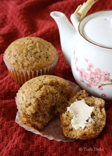 Рецепт Кексы с ванильным чаем