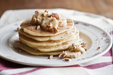 Рецепт  Блинчики из пшеничной муки и запеченных бананов