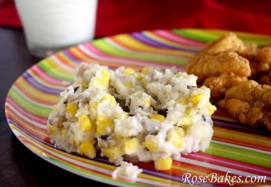 Рецепт Африканский гарнир из картофеля, кукурузы и гороха